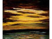 Monet Paintings: Sun Setting over the Sea - Hand Painted Canvas Art