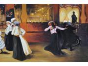 La Bal Bullier - Hand Painted Canvas Art