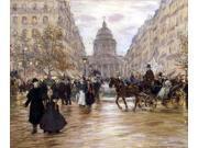 Boulevard Saint-Michel - Hand Painted Canvas Art