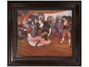 """Art Reproduction Oil Painting - Marcelle Lender Dancing in the Bolero in Chilperic, 1895 with Mediterranean Bronze Frame - Bronze Finish - 30"""" X 34"""" - Hand Painted Framed Canvas Art"""