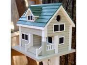 Home Bazaar Bungalow Birdhouse Grey with Green Roof HB 2040
