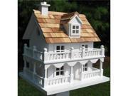 Home Bazaar Classic Series Novelty Cottage Birdhouse (White)