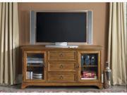 Beacon Entertainment Oak TV Console