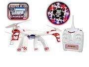 2.4GHz 4.5 Channel Supernova SPY Quad-Drone Camera Remote Control Quadcopter - White