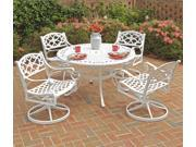 """Biscayne 5PC Dining Set 48"""" Table / Swivel Chairs - by Home Styles"""