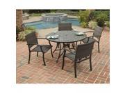 """Stone Harbor 5PC Dining Set with 51"""" Dining Table and Four Newport Arm Chairs - by Home Styles"""