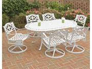 """Biscayne 7PC Dining Set 72"""" Oval Table / Swivel Chairs - by Home Styles"""