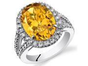 8.25 Cts Yellow Cubic Zirconia Sterling Silver Ring SR11124