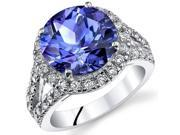 7.00 Cts Alexandrite Sterling Silver Ring Sizes 5 to 9