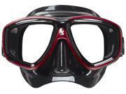 ScubaPro Flux Twin Lens Scuba Mask - Red - Black Skirt