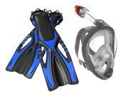 Head Sea Vu FF Mask/Snorkel and Tsunami Fin - Blue - 9-13