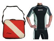 Mares Rash Guard Top with Typhoon Padded Regulator Bag - Mens Short Sleeve-M