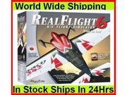 Great Planes Real Flight 6 RC Flight Simulator Md2 w/Airplane Mega Pack