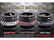 NRG Innovations Steering Wheel Quick Release(Black Body w/ 3 pcs 3D Stickers) Gen 2.0 3D