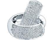 0.50ctw Diamond Micro-Pave Hoop Earrings