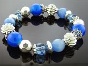 NEW FRANCESCA SILVER 7 INCH BRACELET BLUE