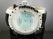 Ice Ice By Icetime 50 MM 10 Diamond Watch W/ M-O-P Face