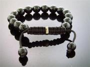"New UNisex Sterling Silver Grooved Bead 8.5"" Bracelet"
