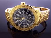New Techno Master 12 Diamonds TM-2132 Yellow Gold Watch