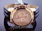 Unisex Aqua Master 38MM Round 24 Diamonds Watch