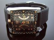 New Men Aqua Master Prince Square 0.70 ct Diamond Watch