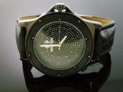 Super Techno by Joe Rodeo 0.10CT diamonds Watch Black Face & Case
