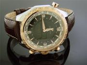 MEN'S AQUA MASTER WHITE DIAMONDS ROSE GOLD BEZEL 1.50CT SWISS MOVT DIGITAL WORLD