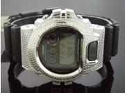 Men Casio G Shock 0.15CT Diamond Black Face Watch 6900 white diamonds