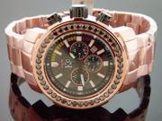 Men Techno com kc 48mm Wee genuine 4.50CT black large diamonds RG face watch