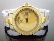 New Techno Com Kc 1.90ct white Diamonds 42mm M-o-p Face all stainless steel case