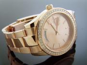 New Techno Com Kc 1.90ct Diamonds 42mm M-o-p Face all stainless steel Rose case