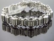 14K White Gold 1.48CTW Diamond Bracelet 41.14GRM