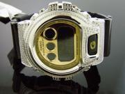 Casio G Shock 3.50Ct Full Case White diamonds Watch Gold Color Face