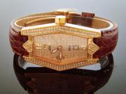 NEW SWISS MOVT AQUA MASTERW/ WOMEN 1.50CT 136 DIAMONDS ROSE GOLD CASE