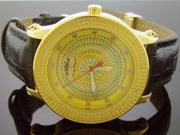Techno Royale 50mm Round Yellow Gold Tone case 12 Diamonds Watch