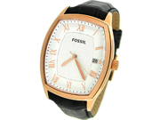 Fossil Women's Ansel FS4739 Black Leather Quartz Watch with White Dial
