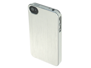 Apple iPhone 4 / 4S Hard Plastic Snap-On Case (Brushed Aluminium Design) (Silver)
