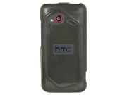 HTC Droid Incredible 4G LTE Silicone Skin TPU Shell (Hard Silicone) Case (Smoke)
