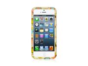 Apple iPhone 5 Crystal Hard Plastic Case (Funny Owl Print) (Yellow)