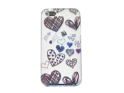 "Apple iPhone 5 Crystal Hard Plastic Case - ""Flirty Heart"" (Wonderland Special Series) (White)"