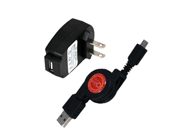 HTC One SV Retractable Synch & Charge USB Travel Kit (Retractable USB Cable & AC Adapter)