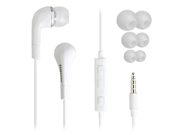 Samsung Galaxy S 3 OEM 3.5mm Premium Stereo Headset with Remote, Mic and Ear Gels EHS64AVFWE (White)
