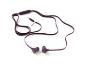 BlackBerry Z10 RC E190 Wired Flat Cable 3.5mm Hands-Free Headsets Headphones (Purple)
