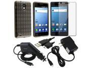 Fosmon Rubberized Snap-On Cover + Screen Protector + Car Charger + Home Travel Charger + USB Data Cable for Samsung Infuse 4G i997