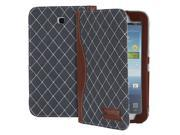 GreatShield Tome Dimond Shape Quilted Leather Case with Hand Strap for Samsung Galaxy Tab 3 7.0