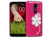 Fosmon GEM-FLAX Series 3D Bling Flower Design Case for LG G2 D802 (Europe/Factory Unlocked/International Version)
