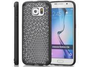 Vena URBAN WARP Design PC+TPU Case Cover for Samsung Galaxy S6 - Black