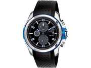 Citizen CA0421-04E Drive Chronograph Stainless Steel Case Rubber Bracelet Black Dial Date Display