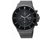 Seiko SNDD83 Men's Black Dial Stainless Steel Bracelet Chronograph Watch