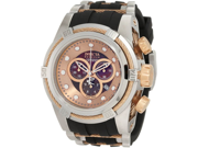 Invicta 0829 Reserve Bolt Zeus Chronograph Stainless Steel Case Rose Gold Dial Rubber Strap
